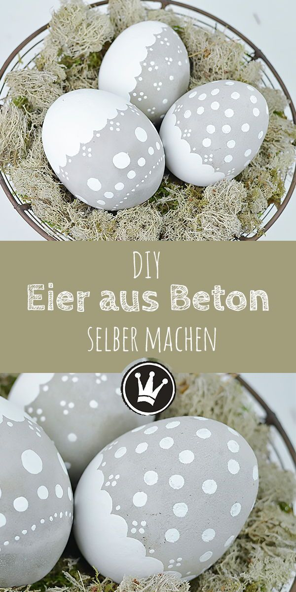 Weatherproof Easter decoration: DIY Easter egg made of concrete - rich in decoration ideas