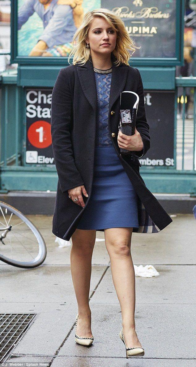 Black dress cream heels