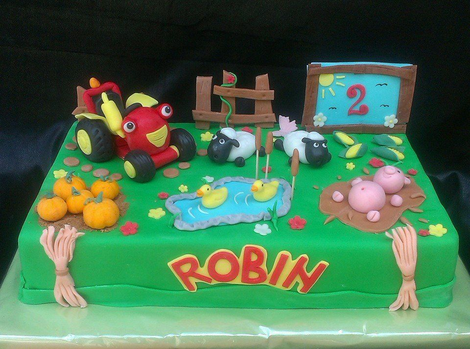 Tractor Tom my cakes Pinterest Tractor Birthday cakes and Cake