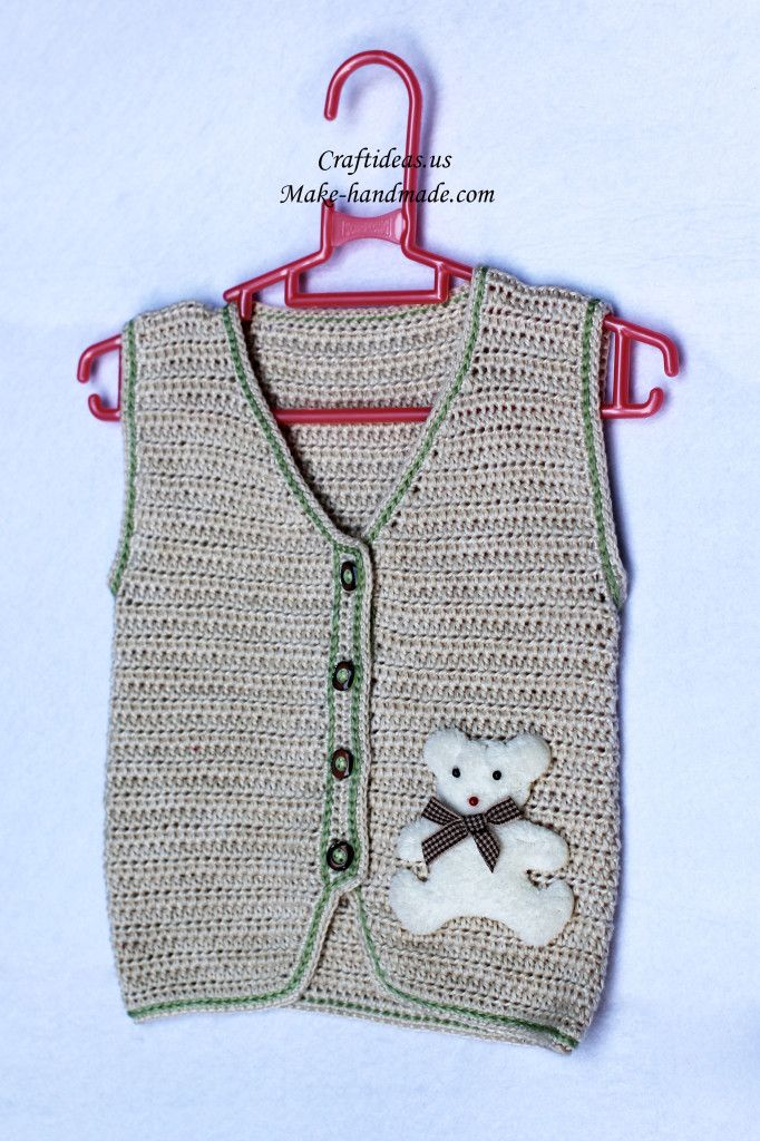 crochet beauty baby vest 2 (1) | croche bags,handles,pillows ...
