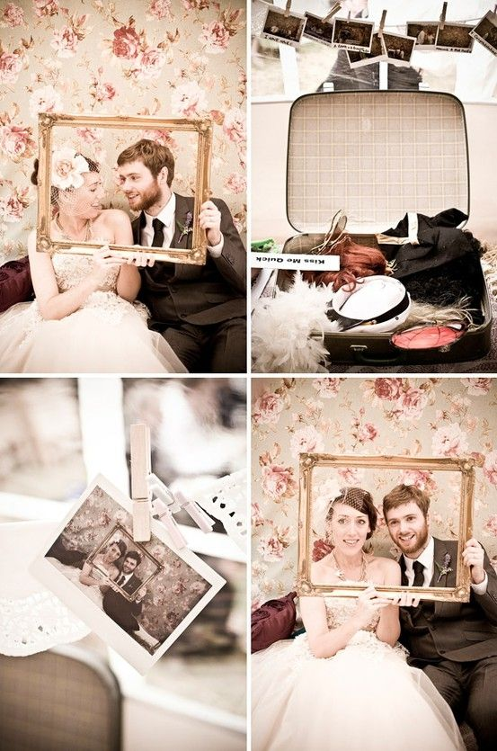 Photobooth Vintage - too much to have a 'through the ages' theme in the photobooth? It could say our initials and 'love is timeless'