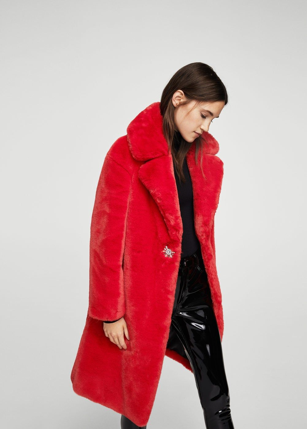Lapels faux fur coat - Woman in 2019  8f16e2ac049