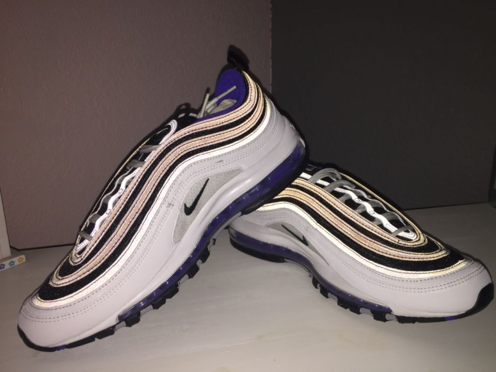 san francisco d53b9 f5ab8 New Men s NIKE Air Max 97 Premium Running Sneaker - White Black-Persian  Violet  fashion  clothing  shoes  accessories  mensshoes  athleticshoes (ebay  link)