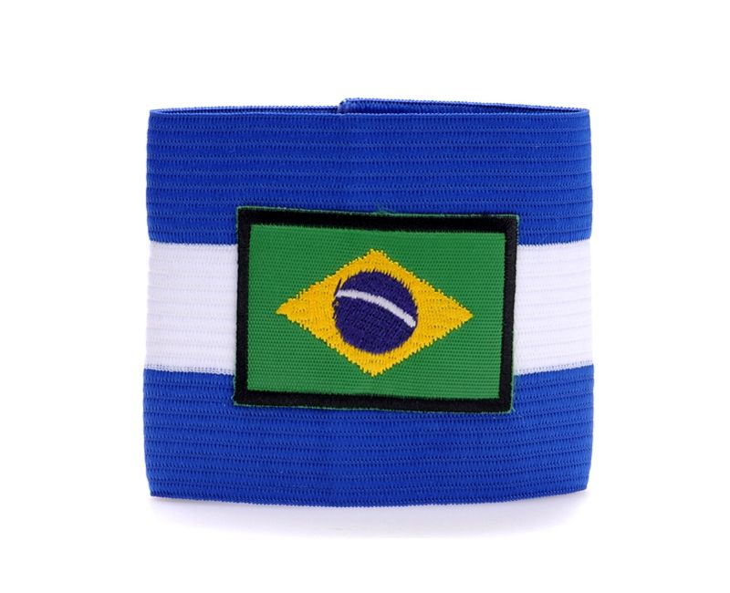 Cheap captains armband brazil football blue arm band