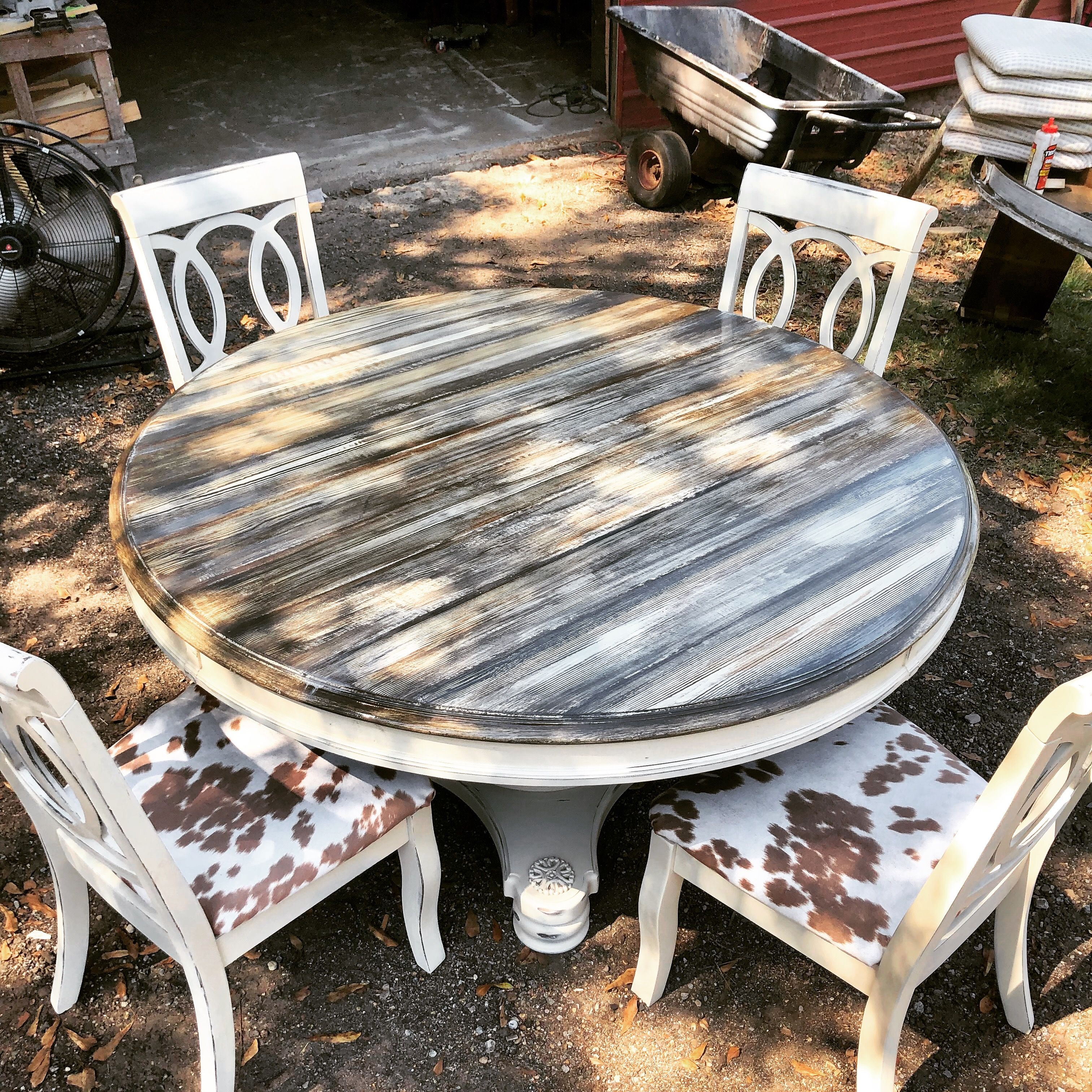 We restored this beautiful table using a blend of two