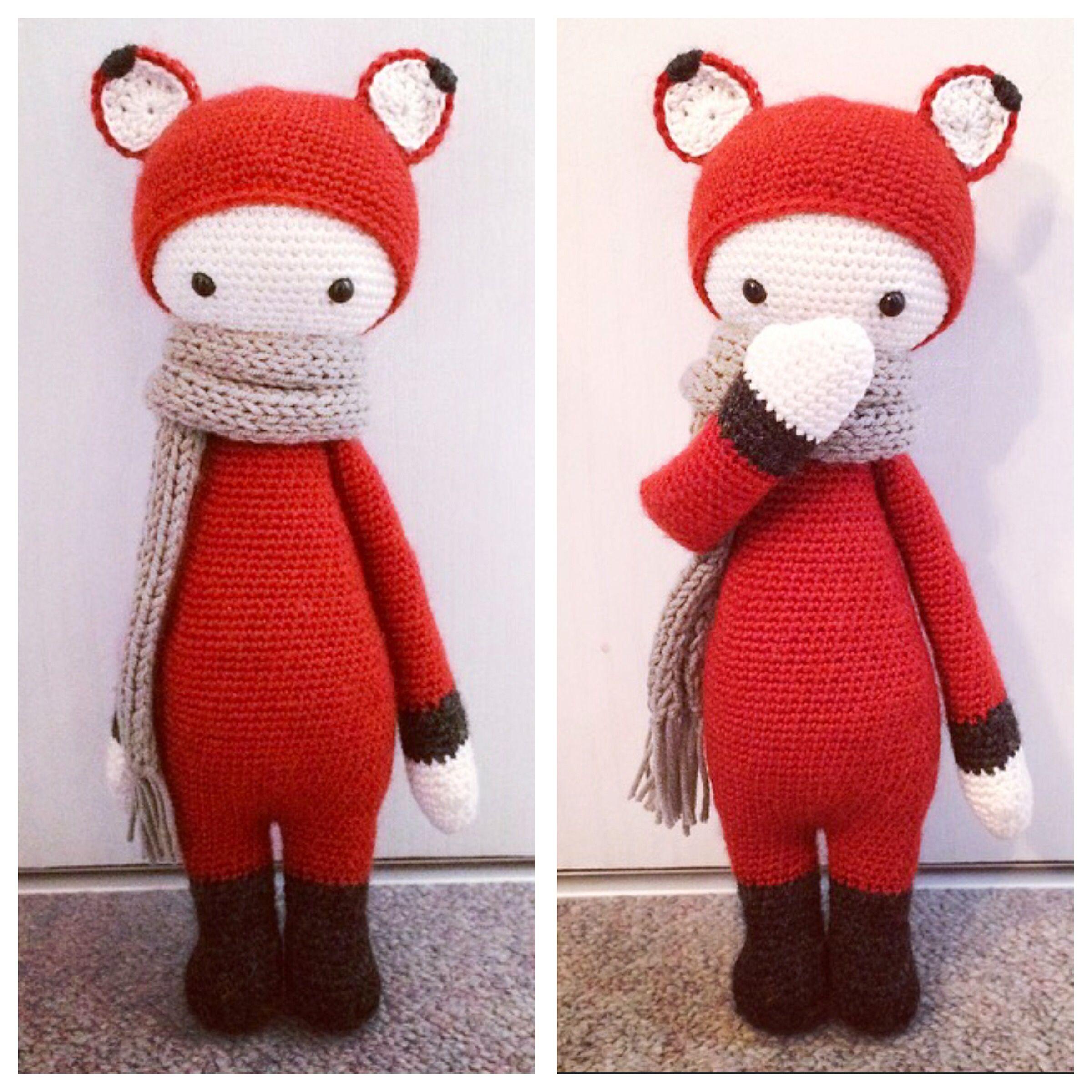 FIBI the fox made by Mareike D. / crochet pattern  by lalylala