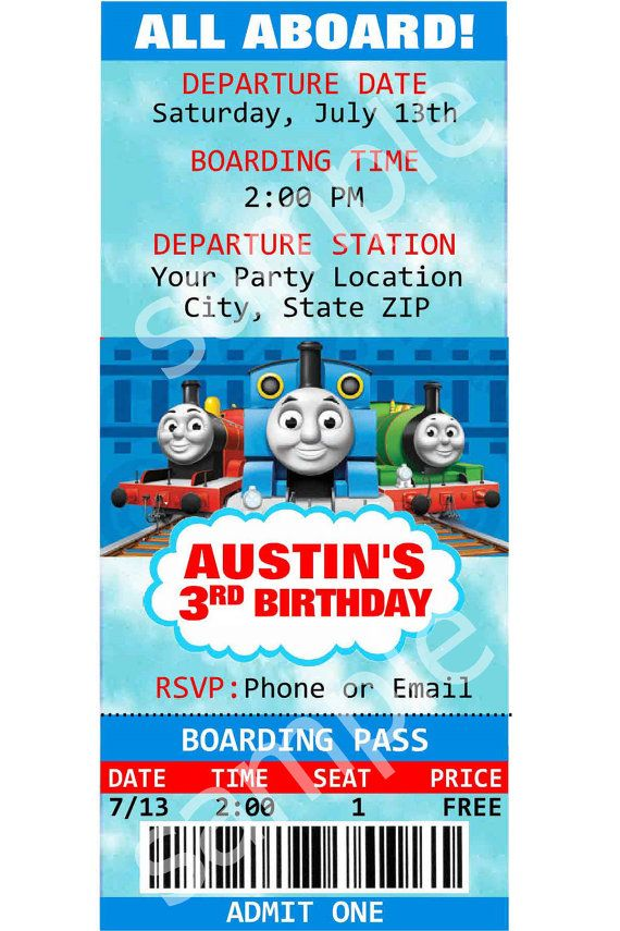 Make sure your little train enthusiasts party is the best ever this ...
