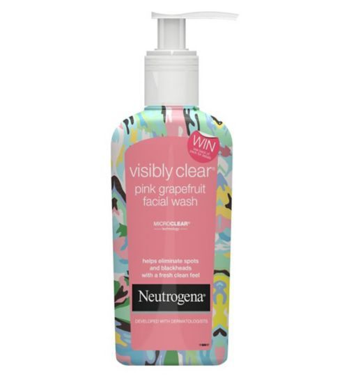 Neutrogena Visibly Clear Pink Grapefruit Facial Wash 200ml Boots
