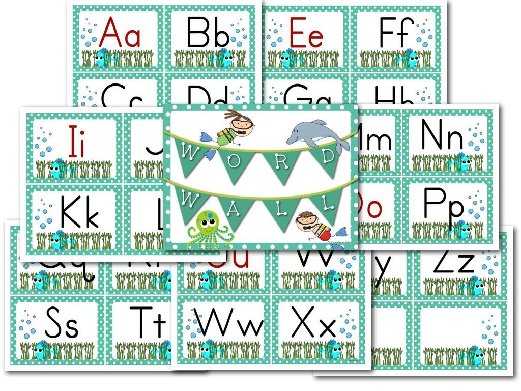 Word Wall Letters Unique Ocean Theme  Word Wall Letters Ocean And Ocean Themes Decorating Design