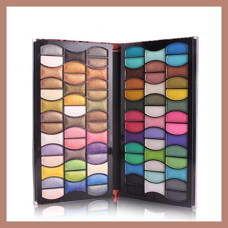 New 3D 48 Color Delicately Wet Metallic Eye Shadow Palette