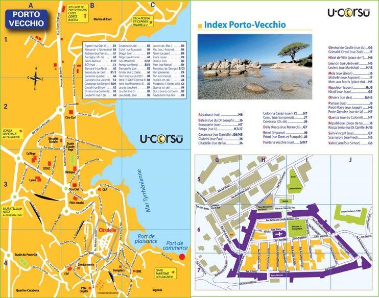 PortoVecchio tourist map Maps Pinterest Tourist map Porto