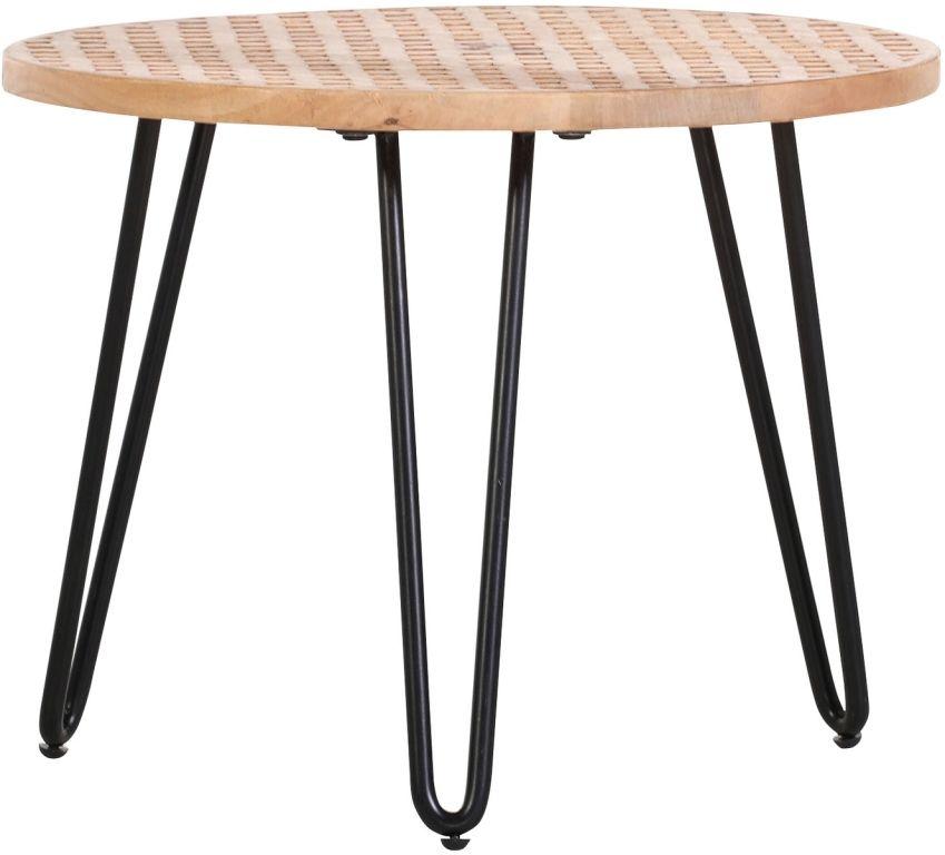 Rimini Beistelltisch Rund Schwarz Braun Metall Holz Massiv Beistelltisch Rund Beistelltisch Tisch
