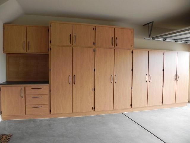 Image Result For Wood Storage Cabinets Wall Garage Cupboards