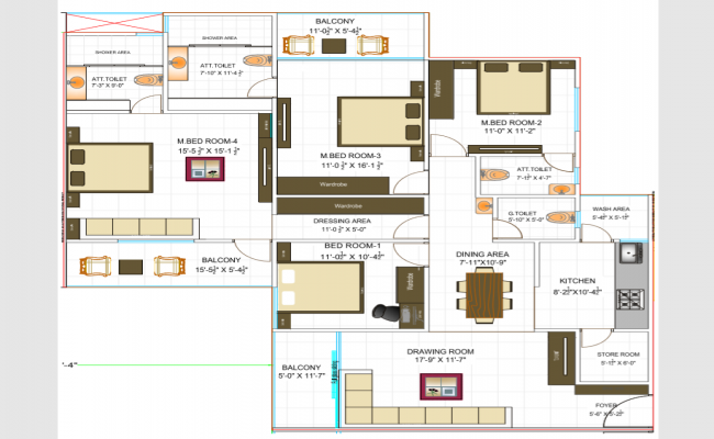 Autocad drawing of residential apartment   Open house ...