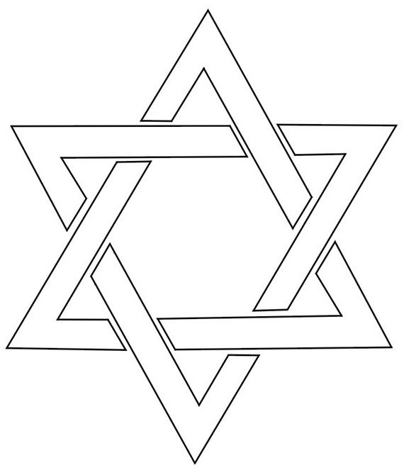Hanukkah Star Of David Coloring Page 10 Jpg 570 670 Pixels Star