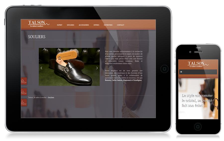 Nouveau site web pour Talson.  Talson fait confiance à l'agence Web4 pour la création de son nouveau site web www.talson-geneve.ch en ligne maintenant