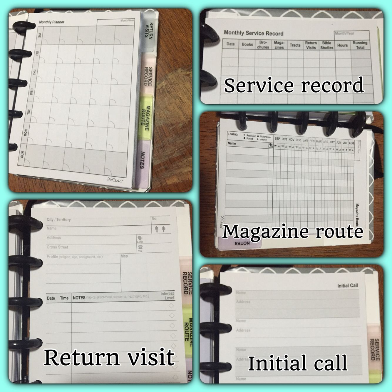 Finally Got My Organized Returnvisit Book And I Love It Peglala Jw Ministry