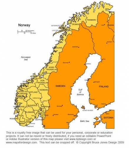 Awesome Free Map Of Norway Holidaymapq Pinterest Free Maps - Norway map free download