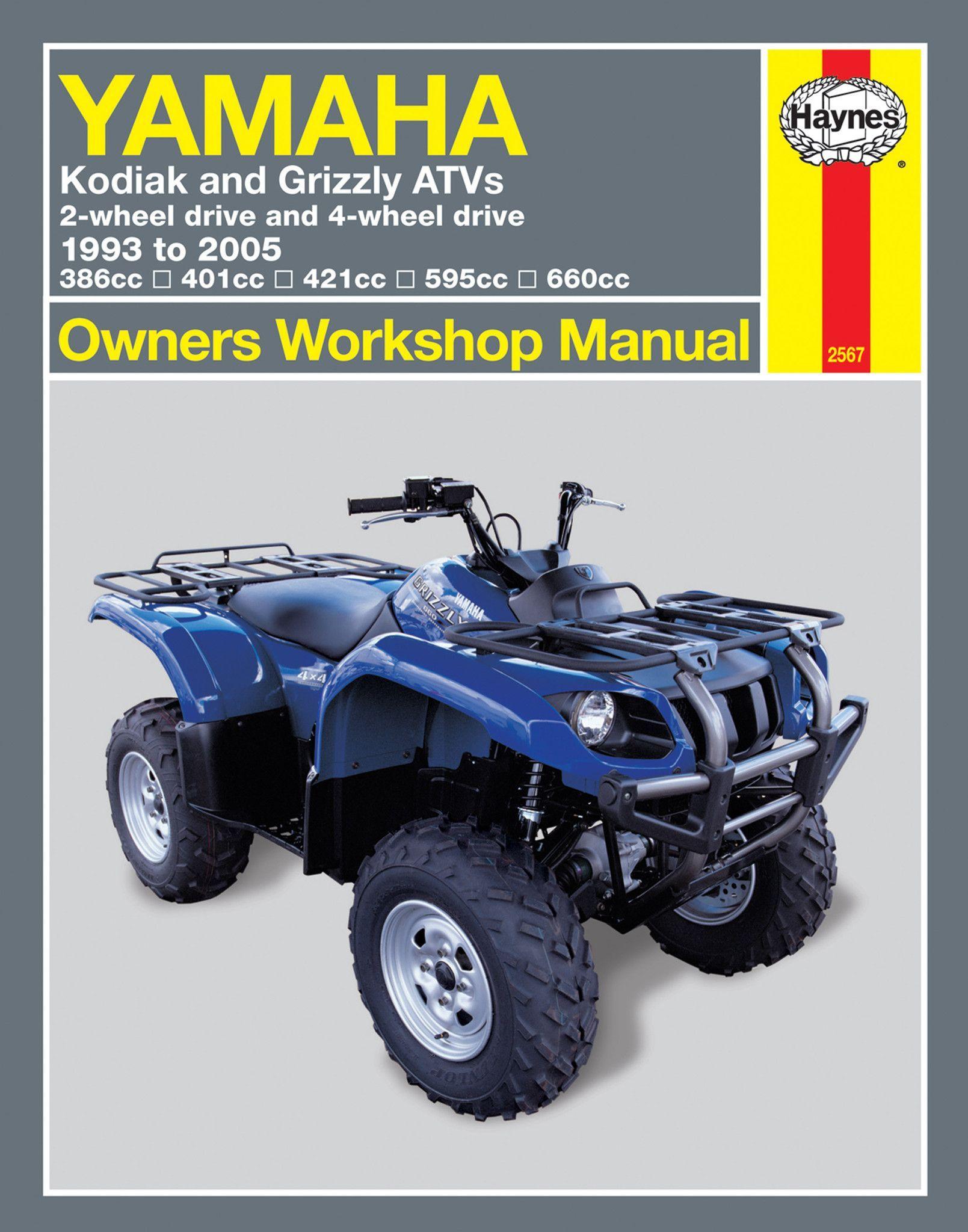 Haynes m2567 repair manual for 1993 05 yamaha kodiak grizzly haynes m2567 repair manual for 1993 05 yamaha kodiak grizzly 2x4 4x4 solutioingenieria Gallery