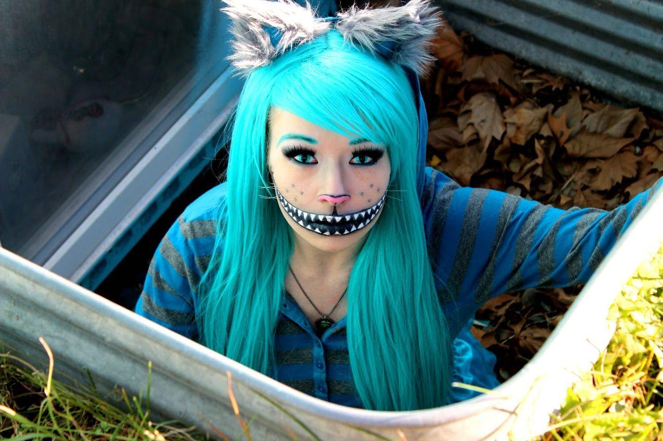 Cheshire Cat Cosplay Cat Halloween Costume Cheshire Cat Costume