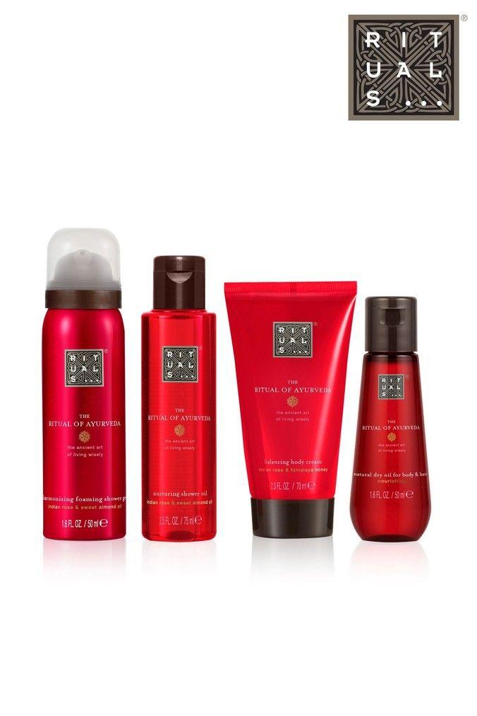 The Ritual Of Ayurveda Balancing Treat Gift Set Dry Body Oil Body Shower Shower Foam