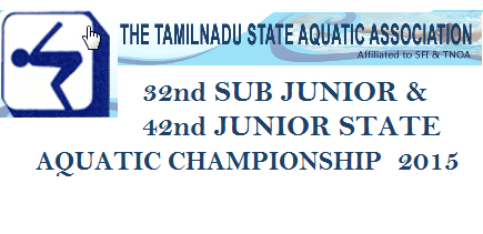 ‪#‎SwimMeet‬ Announcement!  Gear up ‪#‎swimmers‬ for the Tamil Nadu State Sub-Junior and Junior Aquatic Championship at Neyveli from 17th to 21st June 2015.