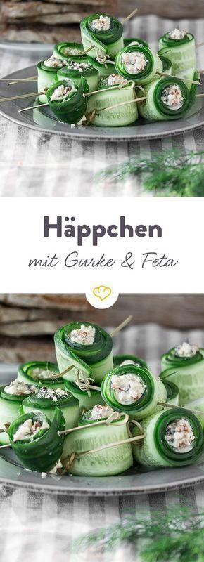 Gurken-Feta-Röllchen #brunchideen
