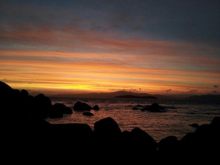 Por do sol da Ilha da magia-Floripa-Brasil