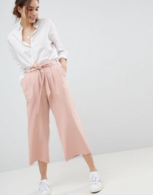 Image result for ASOS DESIGN culotte with tie waist