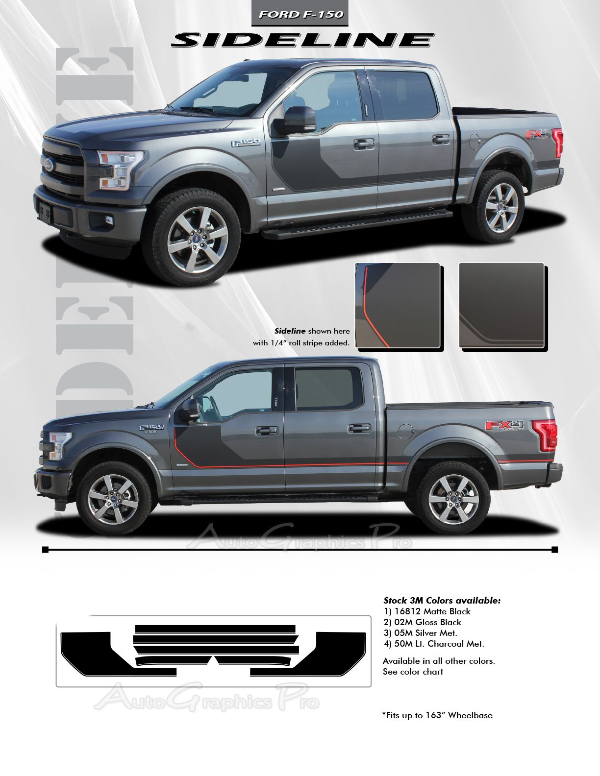 2015 2020 Ford F 150 Stripes Sideline Special Edition Appearance