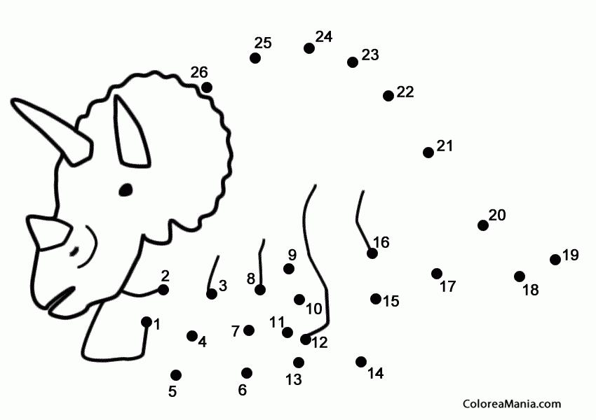 350 Triceratops Para Unir Puntos Png 850 600 Pixeles Actividades De Dinosaurios Hojas De Ejercicios Para Ninos Proyectos De Dinosaurios