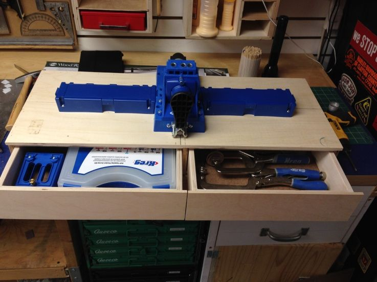 Work Station For My Kreg Jig K5 Woodworking Woodworking Basics Woodworking Shows