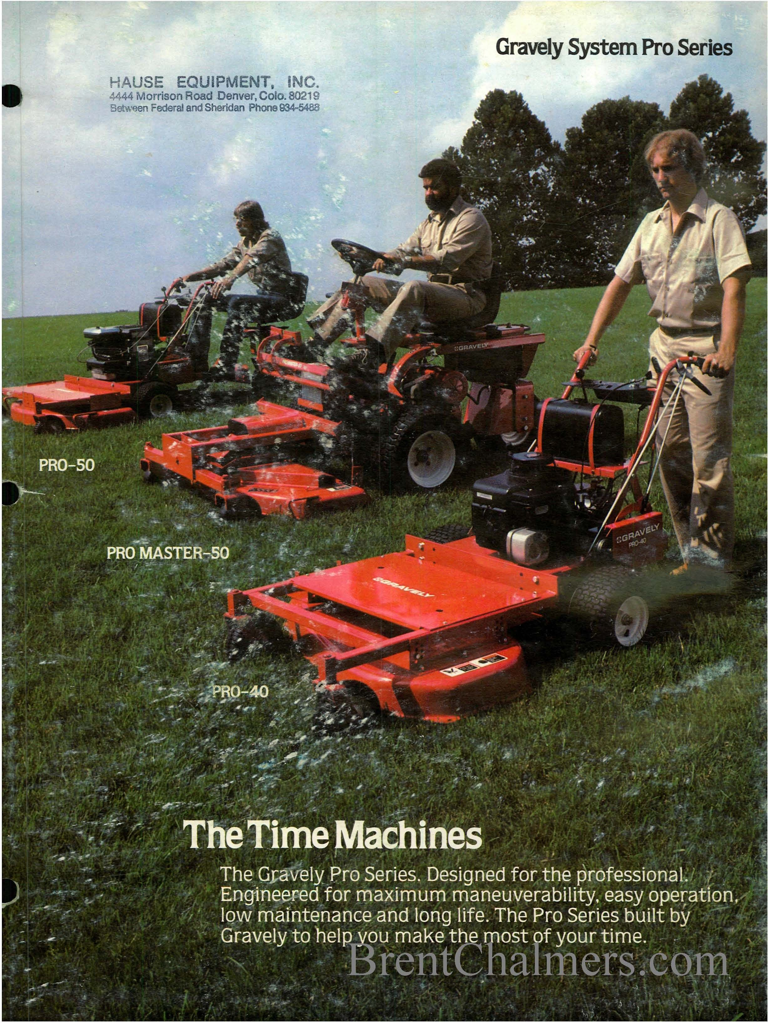 1982 Gravely System Pro Series Sales Brochure (6 Pages)