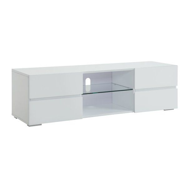 Keep Your Living Space Organized And Attractive At All Times With This New Tv Stand Which Can H Tv Stand With Drawers White Tv Stands White Bathroom Furniture