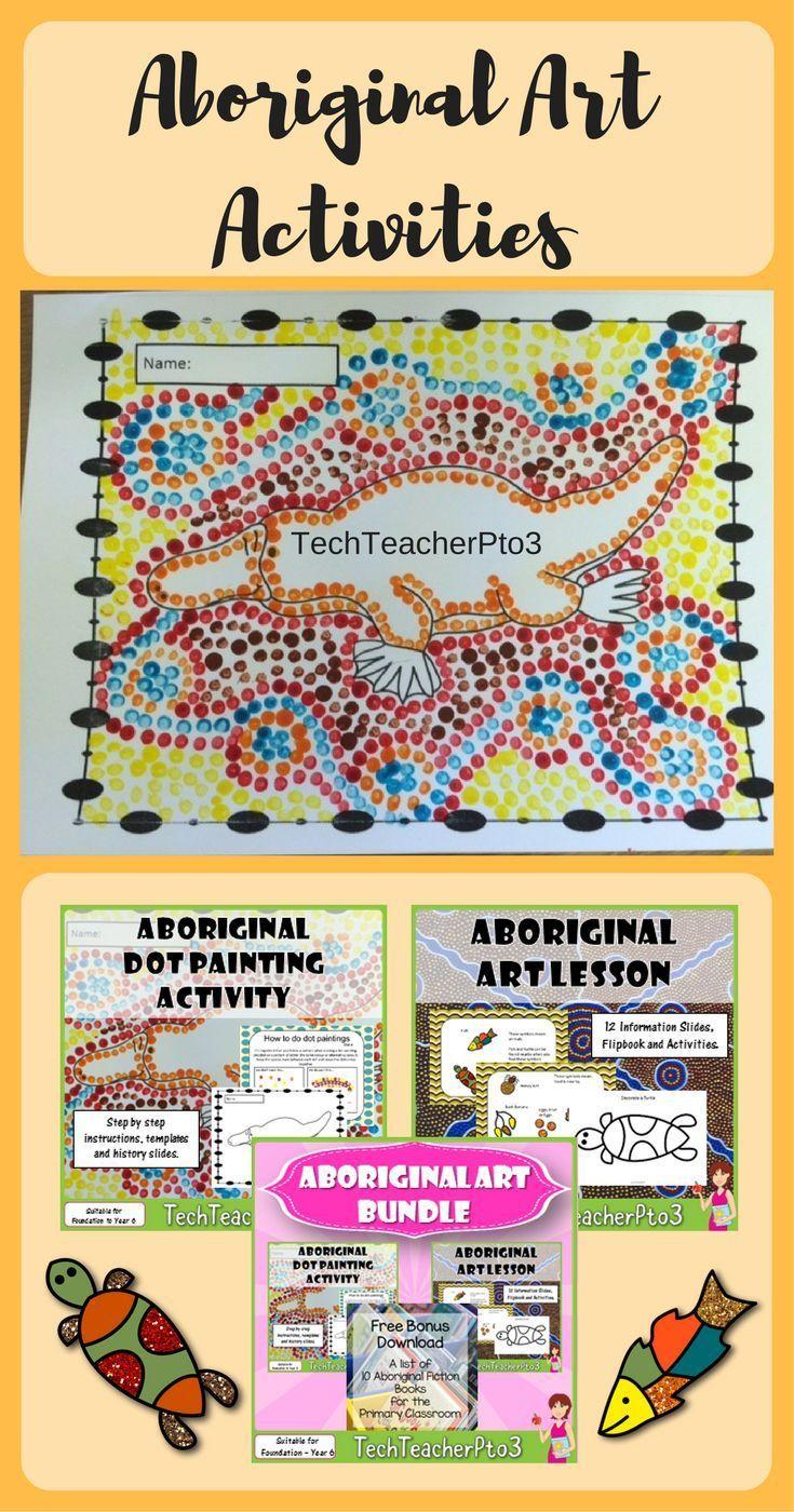 Aboriginal Art Activities Bundle Middle School Junior High