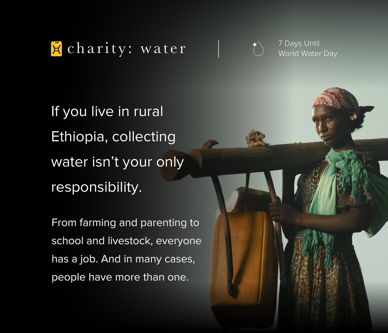 If you live in rural Ethiopia, collecting water isn't your