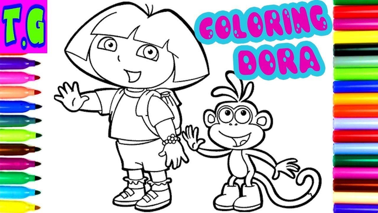 Dora Coloring Book Drawing Pages To Color For Kids Dora Coloring Book Drawing Twins Game
