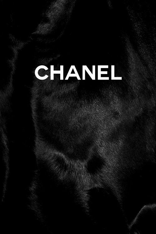 Black Fur Chanel Wallpaper