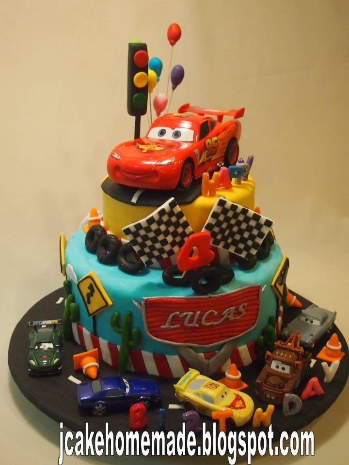 Lightning Mcqueen Birthday Cake Race Car Birthday Party