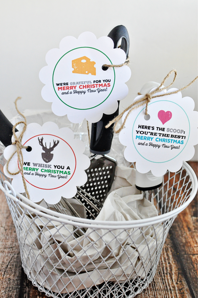 Printable christmas tags for kitchen gifts california for Kitchen gift ideas under 30
