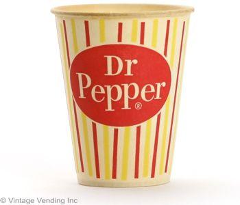 Dr Pepper Retro Soda Paper Cup