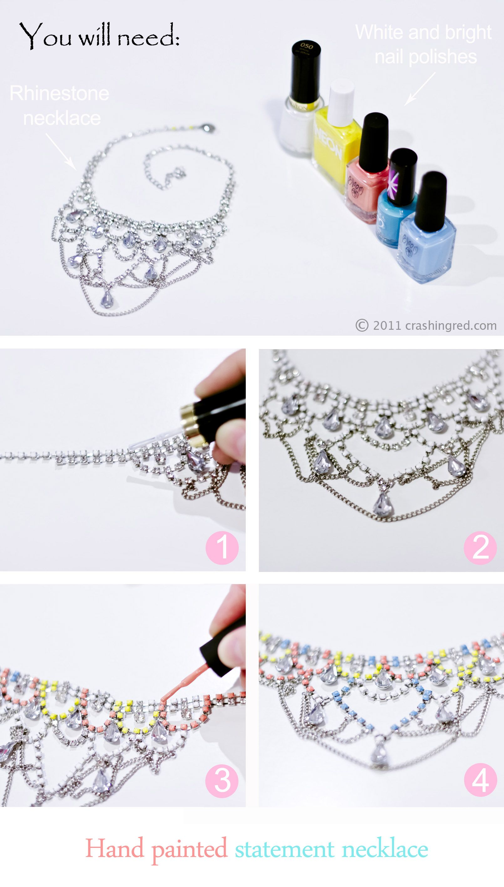 how to make a DIY neon necklace #crafts #fashion #handmade