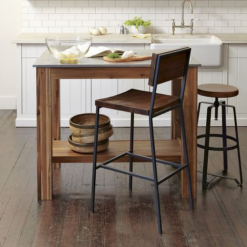 Rustic Kitchen Island Bistro Kitchen Decor Rustic Industrial