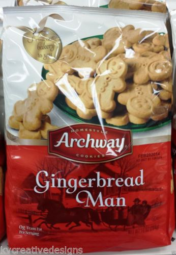 Homestyle Archway Gingerbread Man Men Cookies Expire 2 2014 New