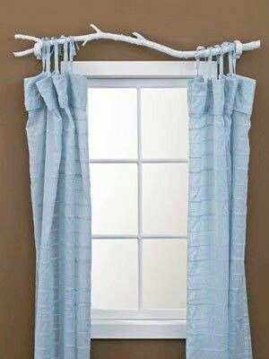 Painted Stick For Curtain Rod Diy Curtain Rods Diy Curtains