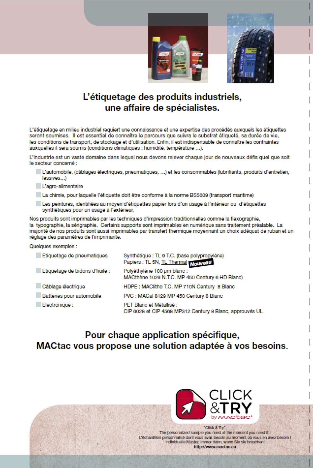 L'étiquetage des produits industriels