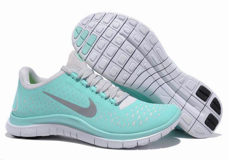 nike free 3.0 v4 tiffany blue white silver womens heels