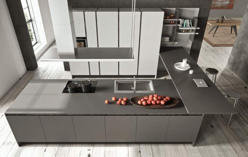 Cucine Moderne - Charme 37 - Grigio Londra - Febal Casa | Cucine ...