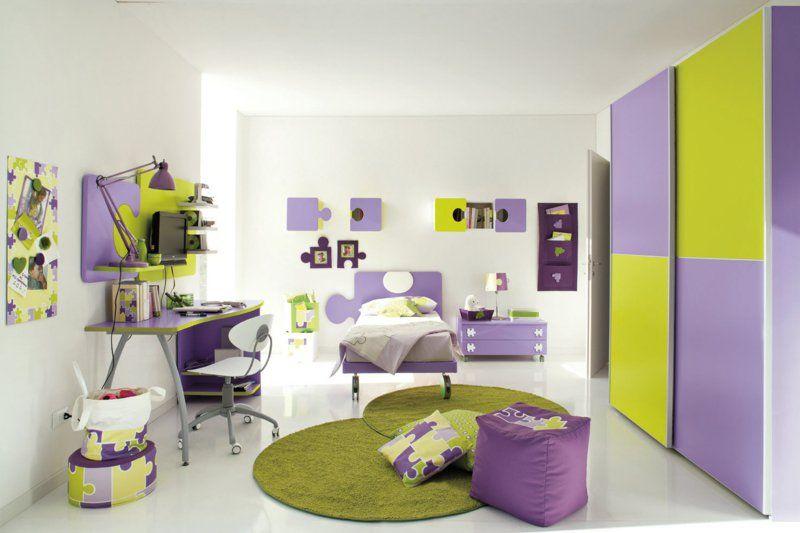 schönes Kinderzimmer in Grün-Lila | Kinderzimmer – Babyzimmer ... | {Schöne kinderzimmer 40}
