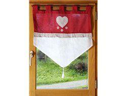 Rideau brise bise - 60 x 60 cm - Ascou - Rouge | COUTURE | Pinterest ...
